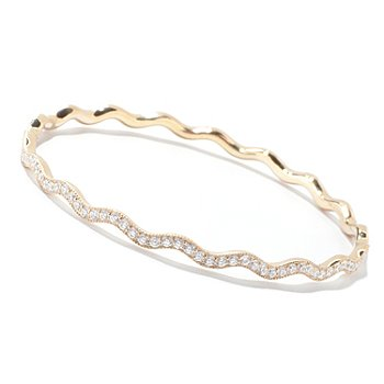 121-138 - Sonia Bitton for Brilliante® Round Cut Wavy Bangle Bracelet