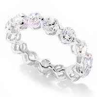 TYCOON SS/PLAT ROUND TYCOON CUT SHARED PRONG ETERNITY BAND