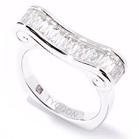 TYCOON SS/CHOICE RECTANGULAR CUT SCROLL RING