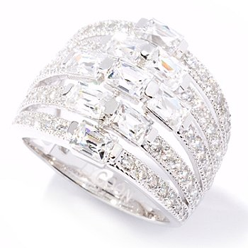121-147 - TYCOON for Brilliante® 2.84 DEW Five-Row Rectangular Cut Ring