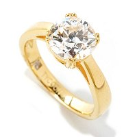 TYCOON SS/PLAT CHOICE CUT FOUR PRONG RING