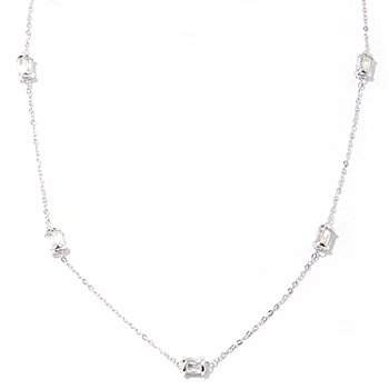 121-158 - TYCOON for Brilliante® Platinum Embraced™ 18'' 4.82 DEW Five-Station Rondelle Necklace
