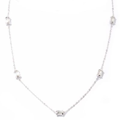 "121-158 - TYCOON for Brilliante® Platinum Embraced™ 18"" 4.82 DEW Five-Station Rondelle Necklace"