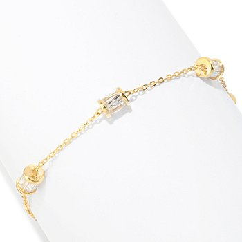 121-159 - TYCOON for Brilliante® 7'' 3.86 DEW Four-Station Rondelle Bracelet