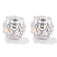 TYCOON SS/CHOICE SQUARE TYCOON CUT GRADUATED PRONG STUD EARRING