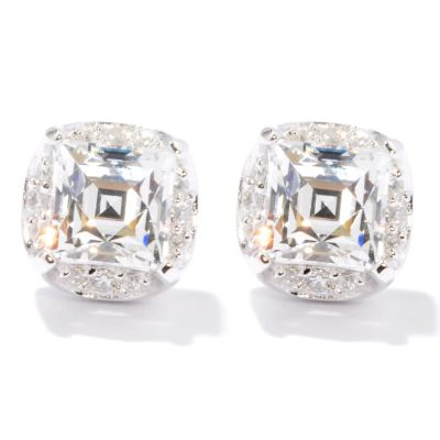 121-169 - TYCOON 2.27 DEW Square & Round Simulated Diamond Stud Earrings