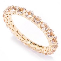 14K Gold Morganite Eternity Band