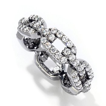 121-188 - Sonia Bitton for Brilliante®  1.35 DEW Round Cut Link Eternity Band Ring