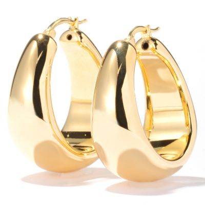 121-197 - Milano Luxe Gold Embraced[ Polished Hoop Earrings