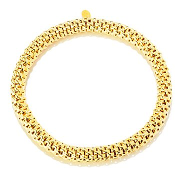 121-348 - Portofino Gold Embraced™ Polished Stretch Slip-on Bracelet