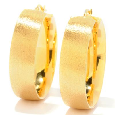 121-349 - Portofino Gold Embraced™ Satin Finished Hoop Earrings