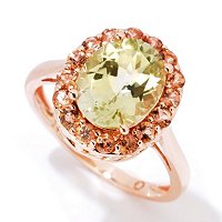 14K RG SILLIMANITE OVAL RING WITH Andulasite