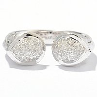BALISSIMA BY EFFY STERLING SILVER DIAMON RING