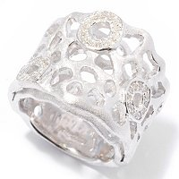 BALISSIMA BY EFFY STERLING SILVER DIAMOND RING
