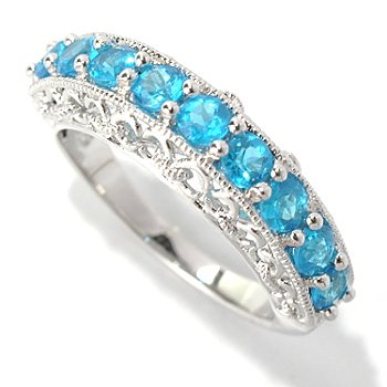 121-494 - NYC II Exotic Gemstone Nine-Stone Band Ring