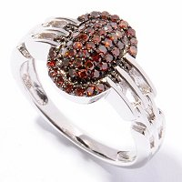 SS RED DIAMOND RING
