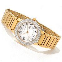 SB STSL/CHOICE PAVE CZ STAINLESS STEEL BRACELET WATCH