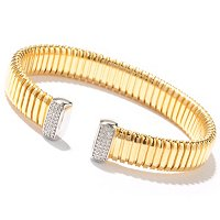 SS WITH BONDED 14K GOLD BANGLE