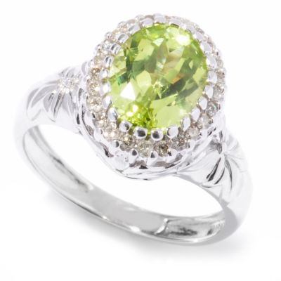 121-648 - The Vault from Gems en Vogue II 14K Gold 2.34ctw Chrysoberyl & Diamond Ring