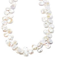 "SS/YP 38"" 14-16MM WHITE FWP KEISHI NECKLACE W/MAGNETIC CLASP"