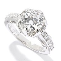 BLTA SS/PLAT ROUND CUT FANCY SET RING