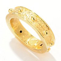 14K ELECTROFORM SILICONE FILLED ORO VITA ROSARY RING