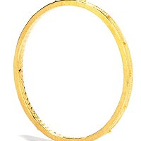 14K ELECTROFORM SILICONE FILLED ORO VITA ROSARY BANGLE - 7.75""
