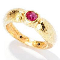 14K ELECTROFORM SILICONE FILLED ORO VITA RUBY TWIRLING RING