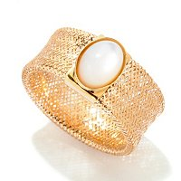 14K OVAL MOP STRETCH RING