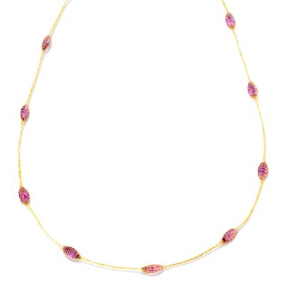 "121-739 - Italian Designs with Stefano 14K 36"" 15.30ctw Amethyst Silk Faceted Necklace"