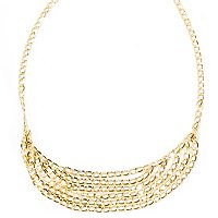 "14K 18"" GRADUATED CASCADE NECKLACE"