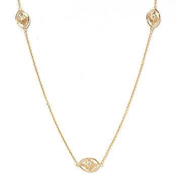 121-765 - Sonia Bitton for Brilliante® Gold Embraced™ 24'' Starburst Station Necklace