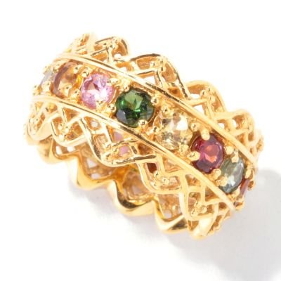 121-771 - Gems en Vogue II 2.70ctw Multi Tourmaline Eternity Band Ring