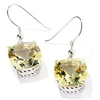 SS CUSHION SEMI PREC EARRING