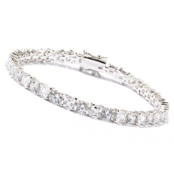 121-790 - TYCOON Platinum Embraced™ Round & Square Simulated Diamond Tennis Bracelet
