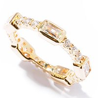 TYCOON SS/PLAT BEZEL RECTANGLE & ROUND BAND RING