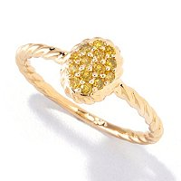 14K YELLOW GOLD RING WITH YELLOW DIAMONDS