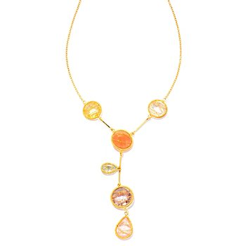 121-837 - Kristen Amato 18'' Multi Gemstone Drop Necklace
