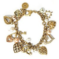 GOLDTONE WAYS TO SAY I LOVE YOU CHARM BRACELET