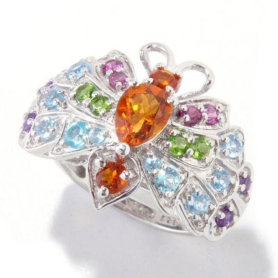 121-888 - NYC II 1.63ctw Multi Gemstone Butterfly Ring