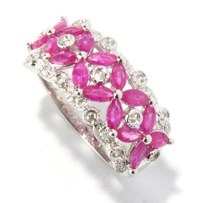 121-901 - NYC II 1.64ctw Ruby & White Zircon Ring