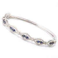 SS DIAMOND AND BLUE SAPP BANGLE