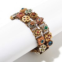 "TWO STRAND ""ROYAL RENAISSANCE"" CANTERBURY BRACELET"