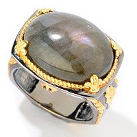 MEN'S - SS/PALL RING LABRADORITE & BLUE SAPH