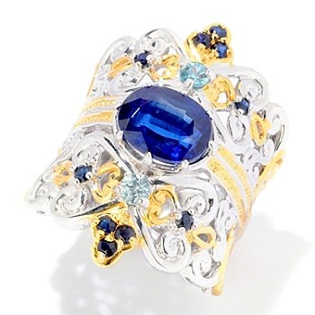 121-952 - Gems en Vogue II 3.28ctw Kyanite & Multi Gemstone Ring