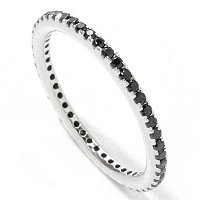 BLTA SS/PLAT CHOICE OF COLOR SMALL ETERNITY BAND RING