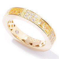 TYCOON SS/CHOICE SQUARE AND PAVE ETERNITY BAND