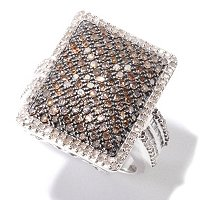 SS REC SHAPE PAVE CHAMP RING