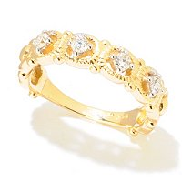 14K YG CIRCLE BAND DIAMOND RING