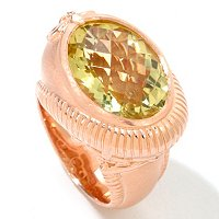 SS/RV TOP CUT ORO VERDE SWIRL RING